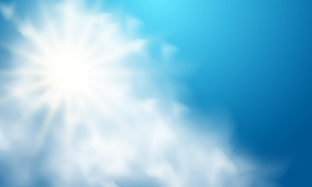 Divine light background in the sky