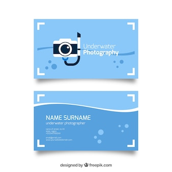 Diving camera, business card