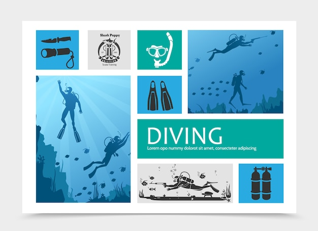 Diving elements composition