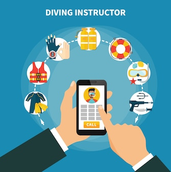 Diving instructor composition