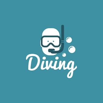 Diving logo design vector