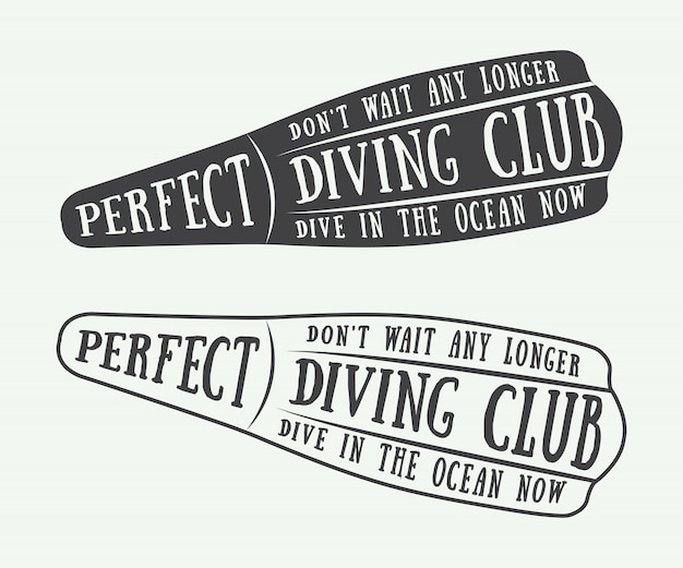 Diving logos