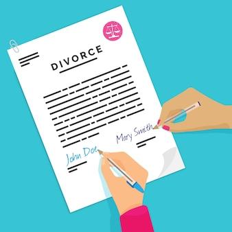 Divorce concept illustration