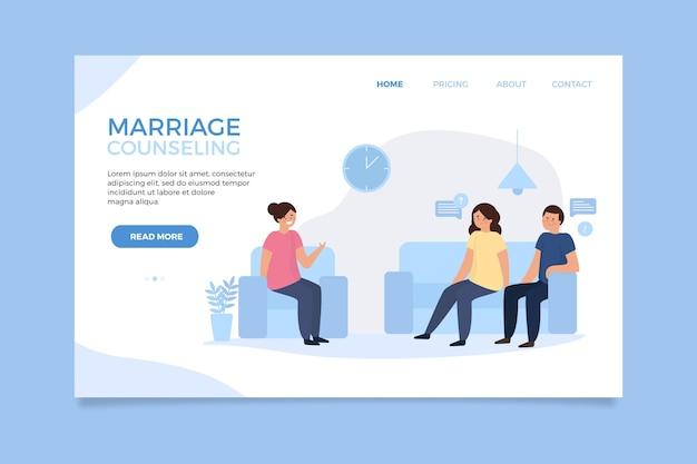 Divorce concept landing page template