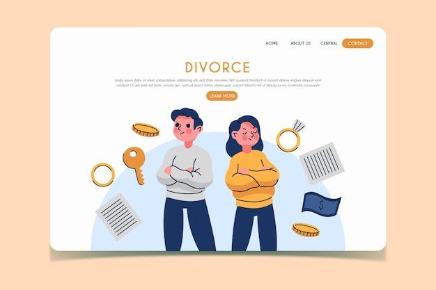 Divorce concept landing page
