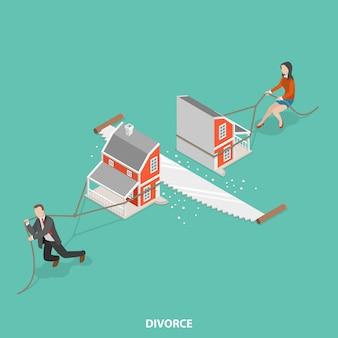 離婚フラット等尺性概念。
