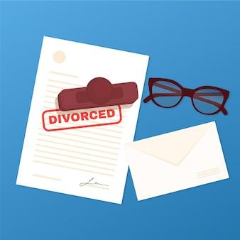 Развод иллюстрация концепции