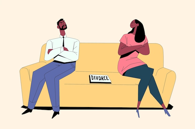 Divorce illustration concept