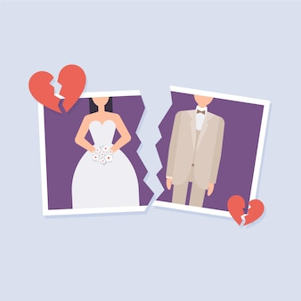 Divorce illustration concept
