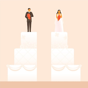 이혼 일러스트 컨셉