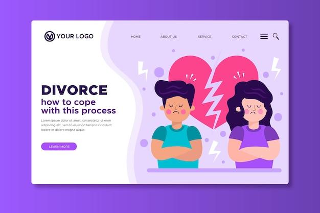 Divorce landing page template