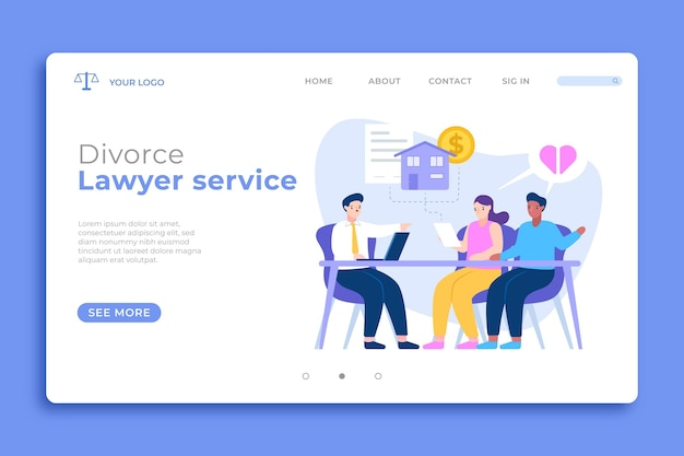 Divorce landing page template