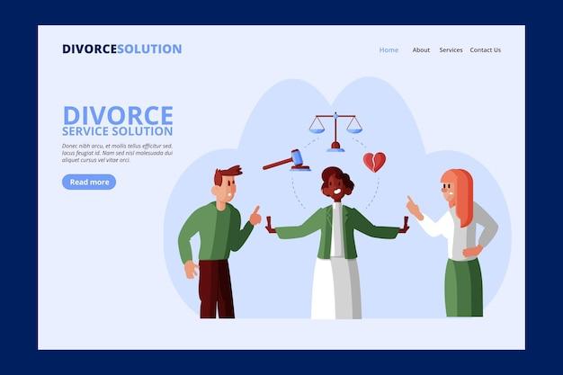Divorce lawyer service - landing page