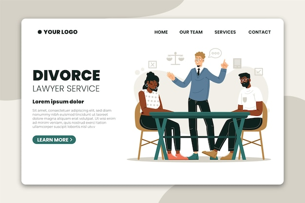 Divorce lawyer service - landing page