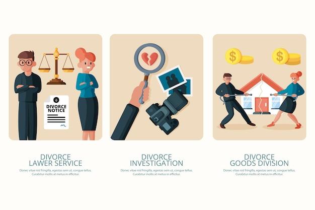 Divorce mediation - onboarding screens