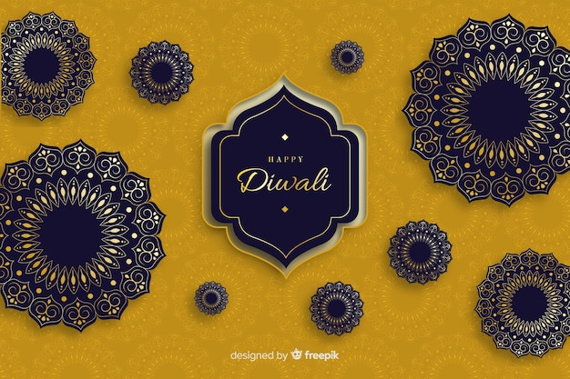 Diwali background in flat design
