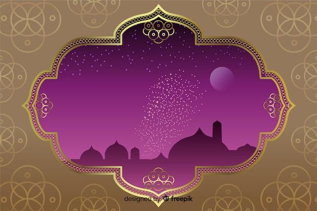 Diwali background in flat design