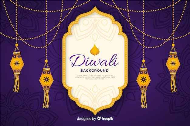 Diwali background in hand drawn