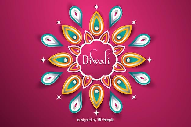 Diwali background in paper styler