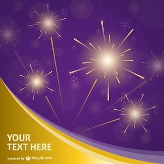 Diwali background with fireworks