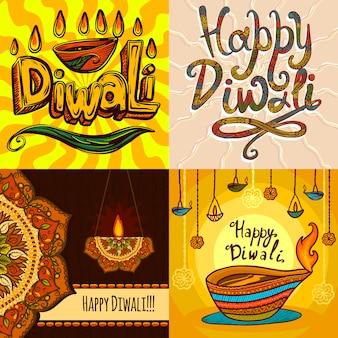 Diwali banner set