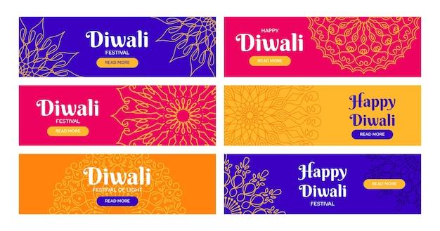 Diwali banners template