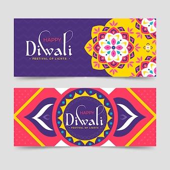 Modello di banner diwali