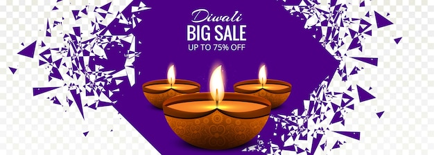 Diwali big salei colorful banner design illustration