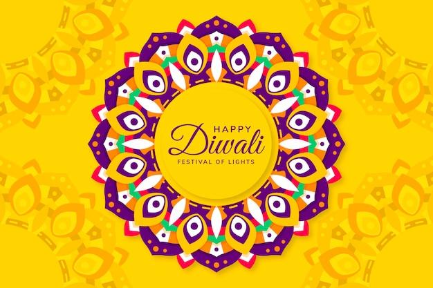 Diwali celebration flat design