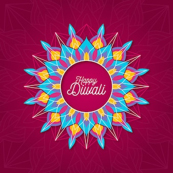 Concetto di diwali in design piatto