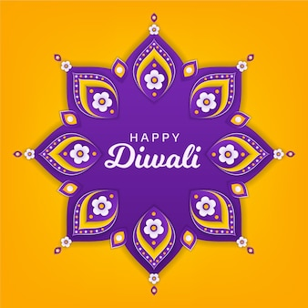 Diwali concept in paper style