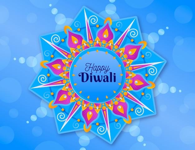 Diwali cultural event flat design