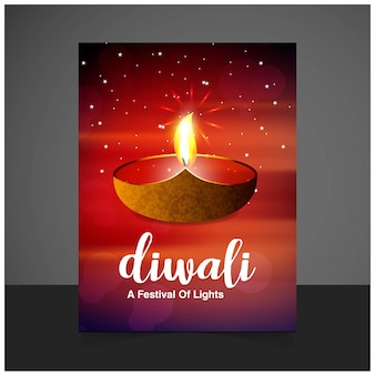Diwali design brown background and typography vector