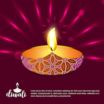 Diwali design dark background and typography vector