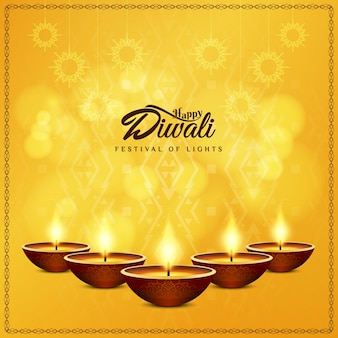 Diwali design with five candles