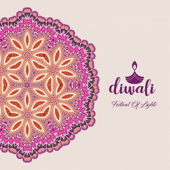Diwali design with unique style and typography vector