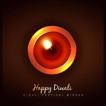 美しいdiwali diyaトップビューの背景