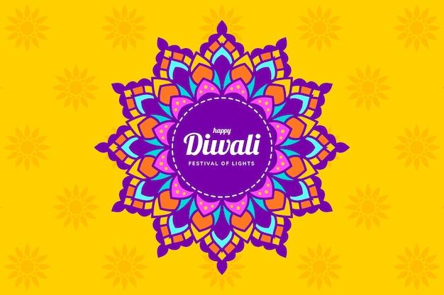 Diwali event flat design