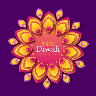 Diwali event in paper style