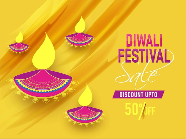 Diwali festival background.