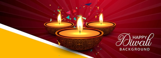 Праздничный баннер diwali