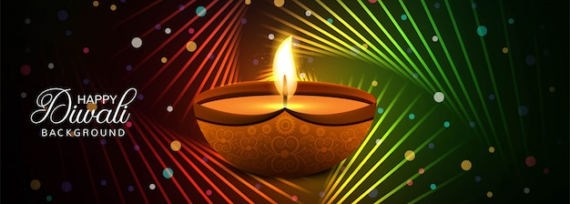 Diwali festival banner colorful background