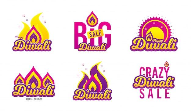 Diwali festival banners