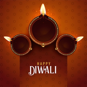 Diwali festival diya background design template