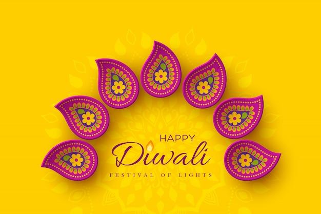 Diwali festival holiday design.