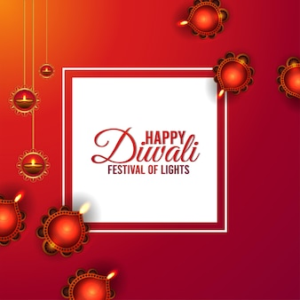 Diwali festival of light celebration card