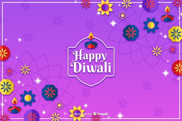 Diwali festival ornaments hand drawn background