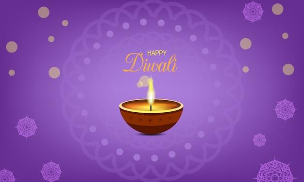 Diwali festival template with mandala