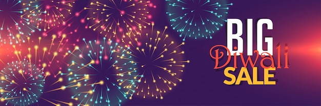 Diwali fireworks sale background design