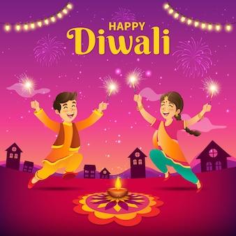 Diwali greeting concept design